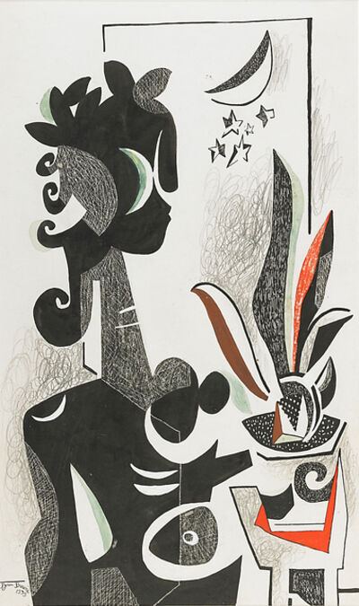 Byron Browne, 'Untitled (Figure with Flowers)', 1939