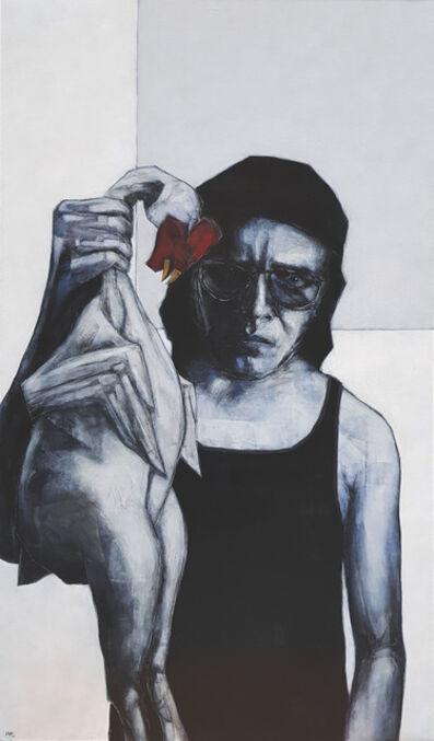 Andrzej Farfulowski, 'Autoretrato con gallo muerto', 2019