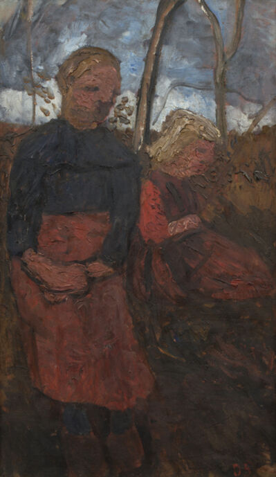 Paula Modersohn-Becker, 'Two Girls Sitting in Landscape', 1905