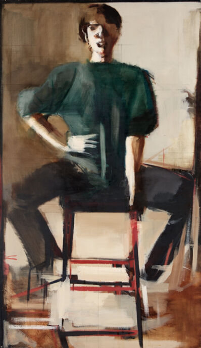 Peri Schwartz, 'Woman Seated (green shirt)', 1998