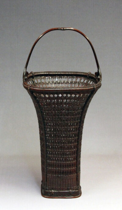 Tanabe Chikuunsai II, 'Diamond Pattern Flared Basket', 1938-1945