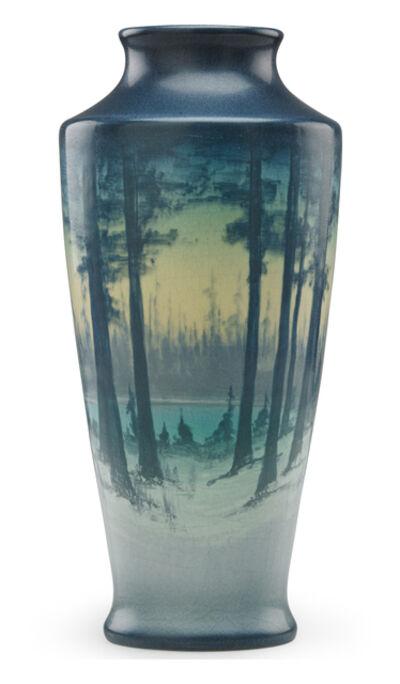 Sallie Coyne, 'Winter Scenic Vellum vase, Cincinnati, OH', 1918