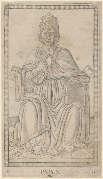 Master of the E-Series Tarocchi, 'Papa (Pope)', ca. 1465