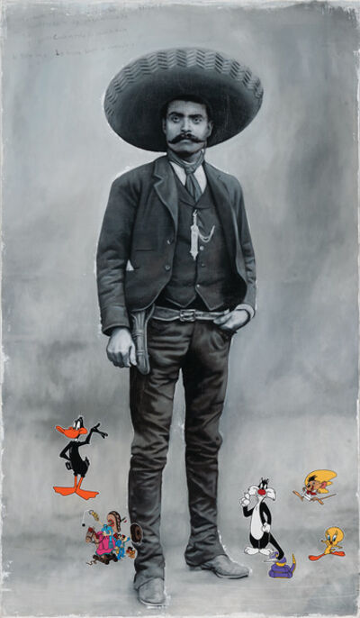 Armando Romero, 'Portrait of Zapata Comic', 2018