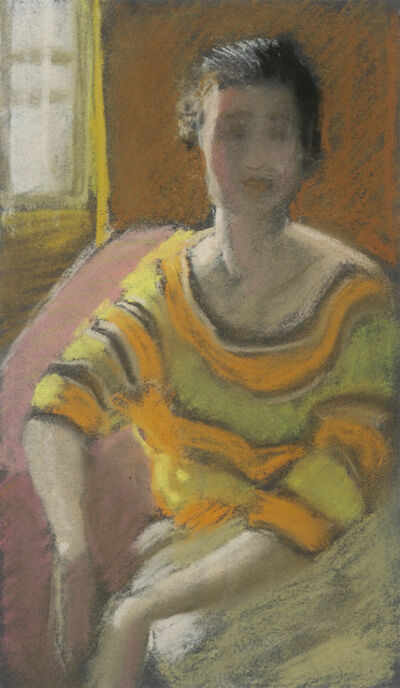 Alfons Walde, 'Woman with Yellow-orange Pullover', ca. 1919