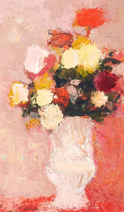 Bernard Cathelin, 'Bouquet au Fond Rose', 1963