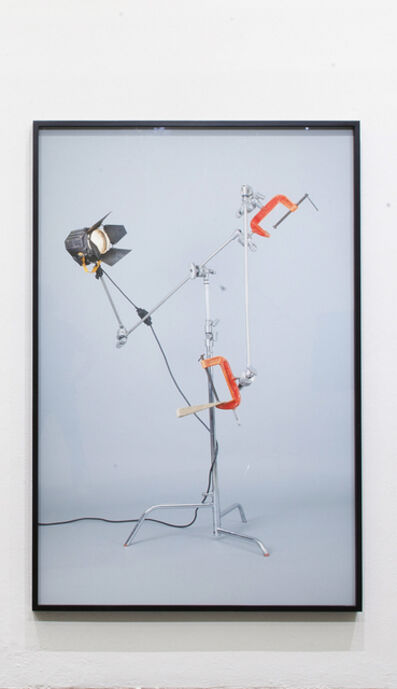 "Adrian S. Bara, '""Untitled (c-stand, clamp, fresnel 650, cuña),""', 2015"