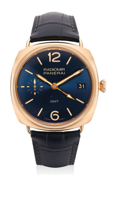 Panerai, 'A very fine and attractive pink gold limited edition wristwatch with dual time, date, certificate and presentation box, numbered 111 of a limited edition of 200 pieces', 2014