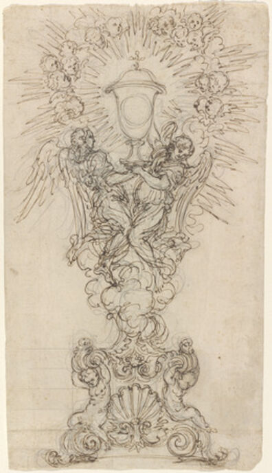 Giovanni Battista Foggini, 'A Monstrance with Two Angels Supporting a Chalice'