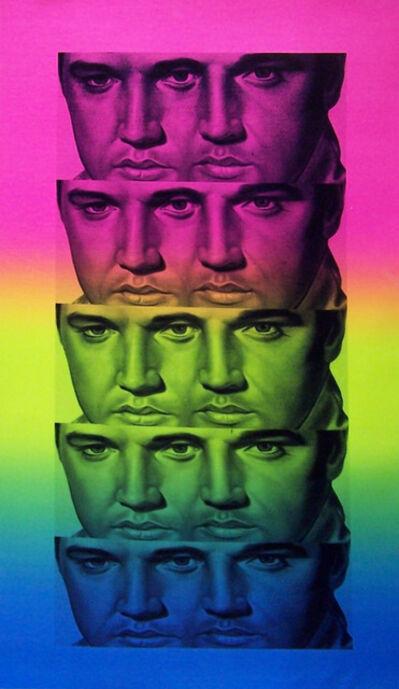 Ron English, 'Rainbow Elvis', 2012