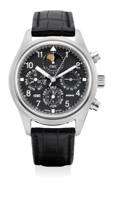 IWC, 'A fine and rare stainless steel perpetual calendar chronograph wristwatch with moon phases, numbered 31 of a 50 pieces limited edition', Circa 2003