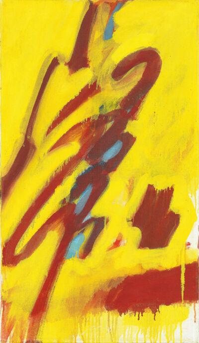 Josef Mikl, 'Figur auf gelbem Grund', 1959
