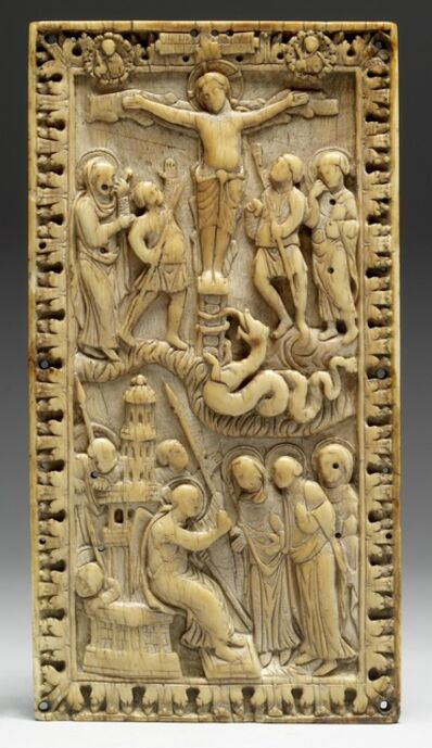 'Book-Cover Plaque with the Crucifixion and Holy Women at the Tomb', ca. 870-880