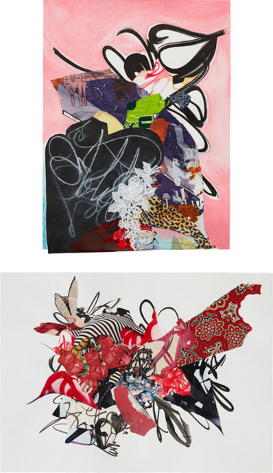 Shinique Smith, 'Two works: (i) Fortitude; (ii) Red Fairy', (i) 2009; (ii) 2008