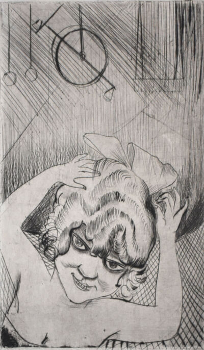 Otto Dix, 'Lili, Queen of the Sky, from: Circus | Lili, die Königin der Luft, aus: Zirkus', 1922
