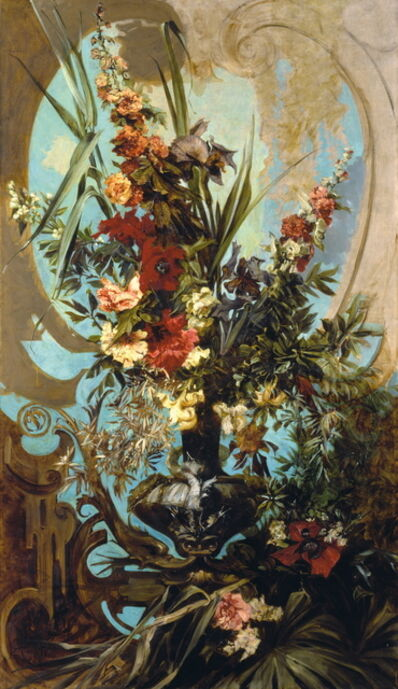 Hans Makart, 'Decorative Flower Bouquet', 1884