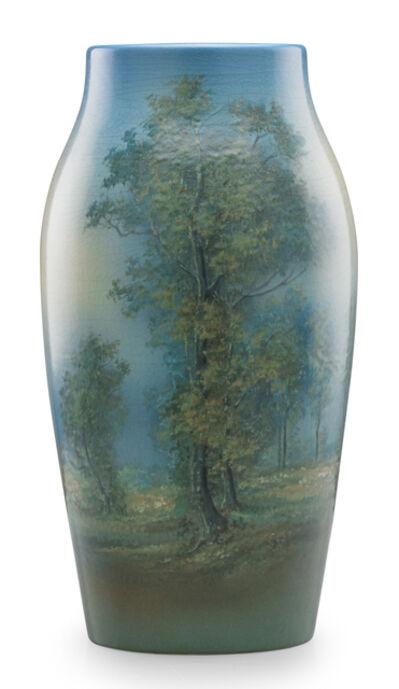 Ed Diers, 'Exceptional large Scenic Vellum vase, Cincinnati, OH', 1917