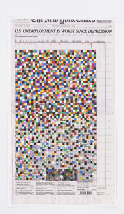 Fred Tomaselli, 'May 9, 2020', 2020
