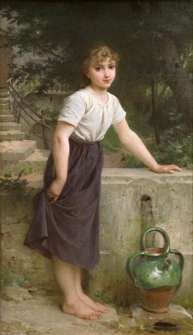 Emile Munier, 'Gathering Water', 1890