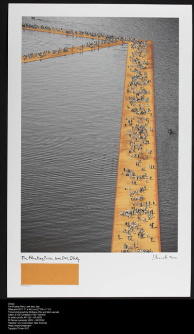 Christo, 'The Floating Piers, Lake Iseo, Italy', 2017