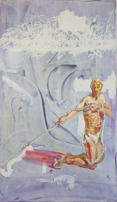 Peter Schmersal, 'Knieender Mann, Seil ziehend', 2013