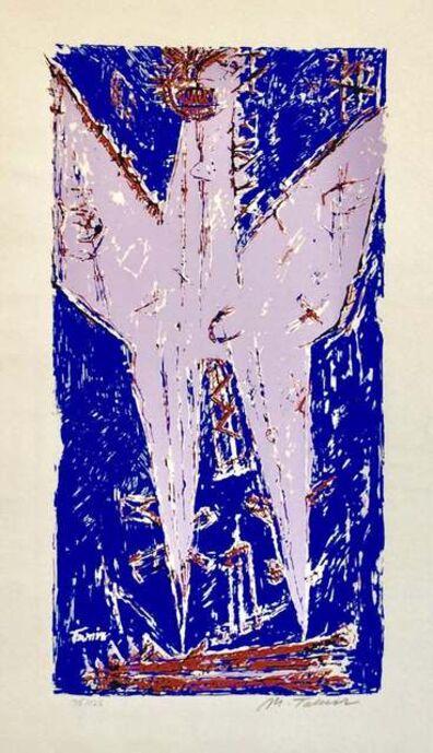Moshe Tamir, '1959 Israeli Moshe Tamir Color Modernist Mixed Media Serigraph Phoenix', 1950-1959