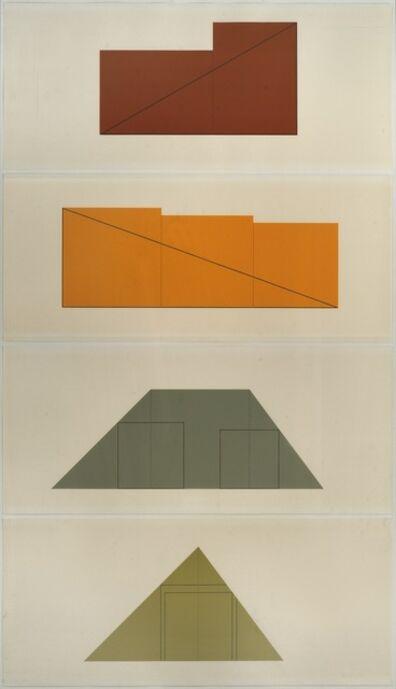 Robert Mangold, 'Multiple Panel Paintings', 1973-1976