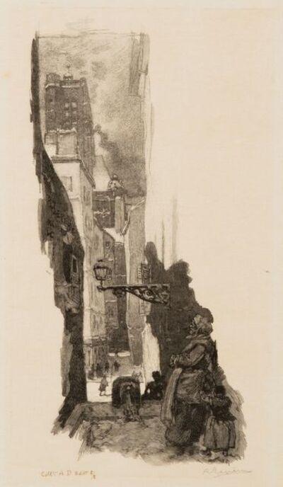 Auguste Lepère, 'Rue Grenier-sur-l'Eau, Paris', 1886