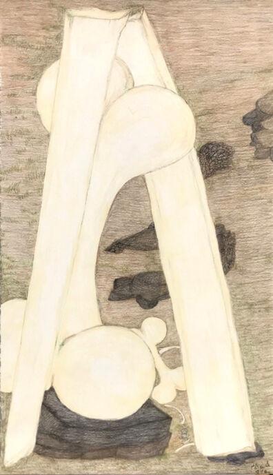 Shuvinai Ashoona, 'Untitled (Vertical Bones)', 2018
