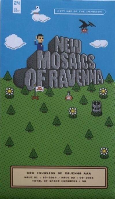 "Invader, 'Invasion Map ""New Mosaics Of Ravenna""', 2017"