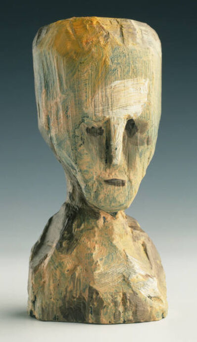 Jonathan Borofsky, 'Self Portrait - Bronze Head, (State) Cast from Original Wood...', 1991