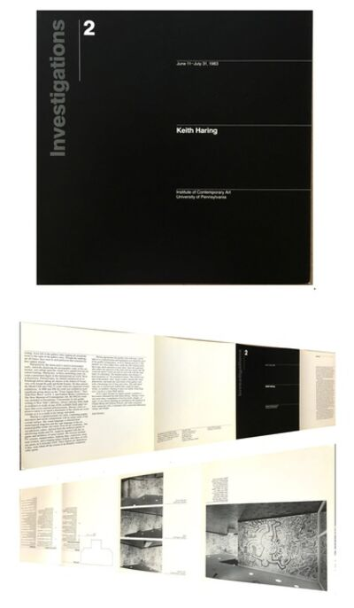 """Keith Haring, '""""Keith Haring: Investigations 2"""", 1983, Exhibition Catalogue, Philadelphia Institute of Contemporary Art, RARE', 1983"""