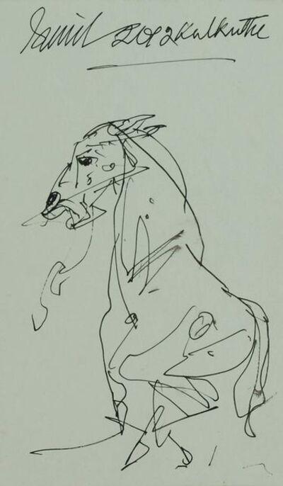 "Sunil Das, 'Horse, Ink on Paper by Padma Shree Artist Sunil Das ""In Stock""', 2012"