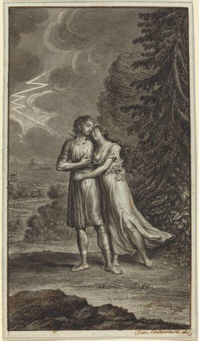 Daniel Nikolaus Chodowiecki, 'Lovers in a Thunderstorm'