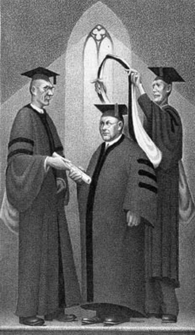 Grant Wood, 'Honorary Degree', 1938
