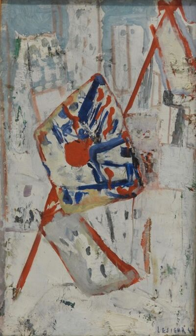 Pierre Lesieur, 'Abstract cityscape with flags', 1964
