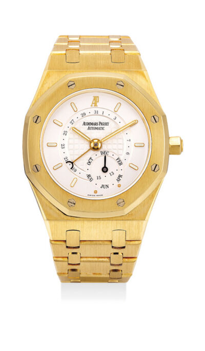 Audemars Piguet, 'A rare and fine yellow gold annual calendar wristwatch with bracelet, guarantee and box', Circa 2004