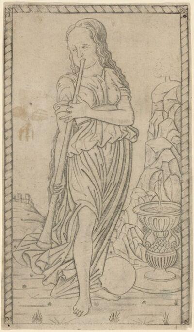 Master of the E-Series Tarocchi, 'Caliope (Calliope)', ca. 1465