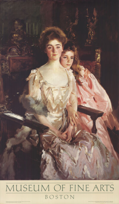 John Singer Sargent, 'Mrs. Fiske Warren and Her Daughter', 1984