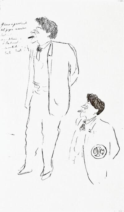 Jean Cocteau, 'Double Portrait of Herman Dietz', 1906-1907