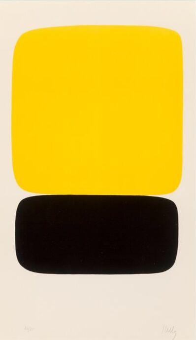Ellsworth Kelly, 'Yellow over Black (Jaune sur noir), from Suite of Twenty-Seven Color Lithographs', 1964-1965
