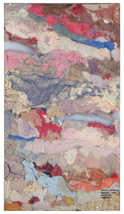 Wendy Ward Ehlers, 'Three Inches Equals One Week of Laundry', ca. 1974