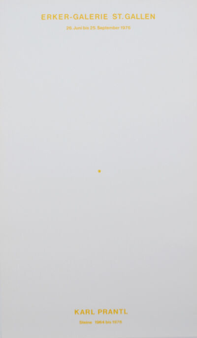 Karl Prantl, 'Der gelbe Punkt / The Yellow Dot', 1976