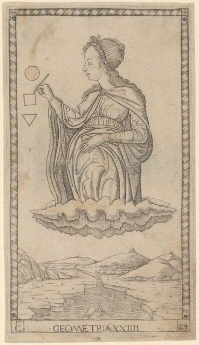 Master of the E-Series Tarocchi, 'Geometria (Geometry)', ca. 1465