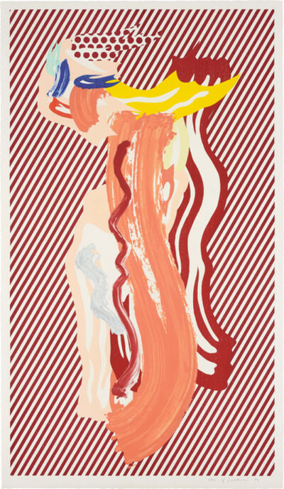 Roy Lichtenstein, 'Nude, from Brushstroke Figure Series', 1989