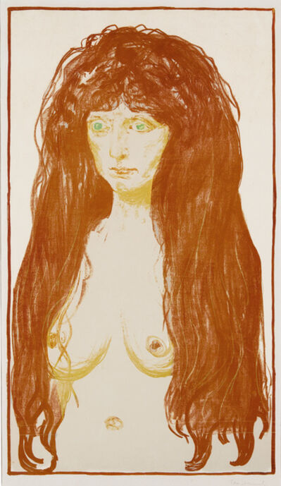 Edvard Munch, ' Kvinne med rødt hår og grønne øyne. Synden (Woman with Red Hair and Green Eyes. The Sin)', 1902