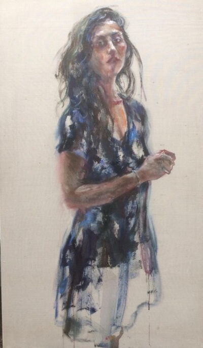 Sam Drukker, 'Vrouw in blauwe jurk', 2018