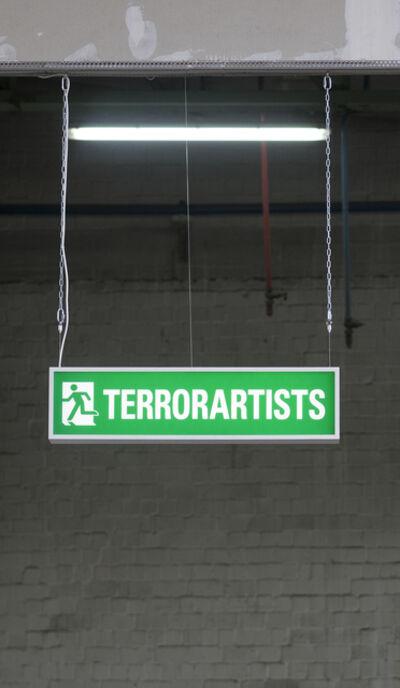 """Wermke/Leinkauf, 'Leuchtkasten """"Terrorartists""""', 2016"""