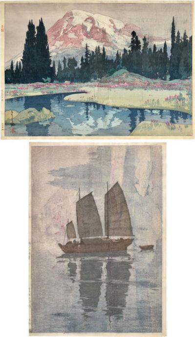 Yoshida Hiroshi, 'Mt. Rainier & Sailing Boats: Mist Test Print', ca. 1925-26