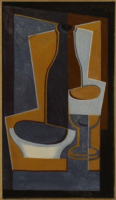 Juan Gris, 'Bouteille, bol et verre', 1922